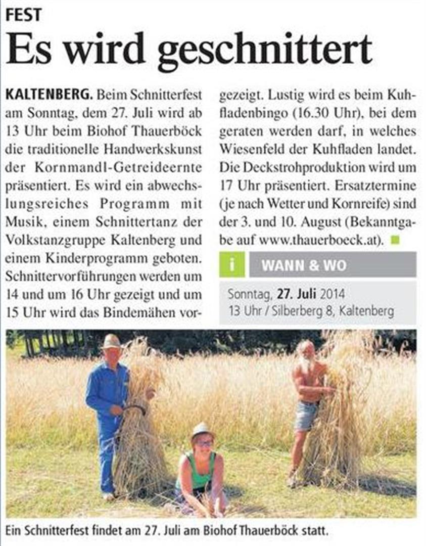 Presse_Biohof_Schnitterfest 1