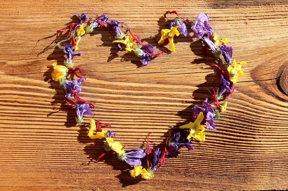 Valentinstag Blütenherz