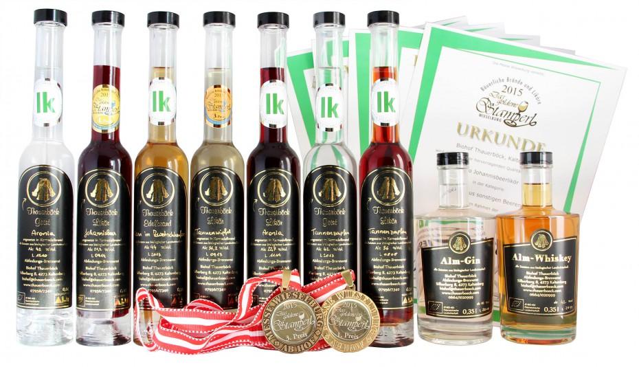 Prämierte Destillate 2015