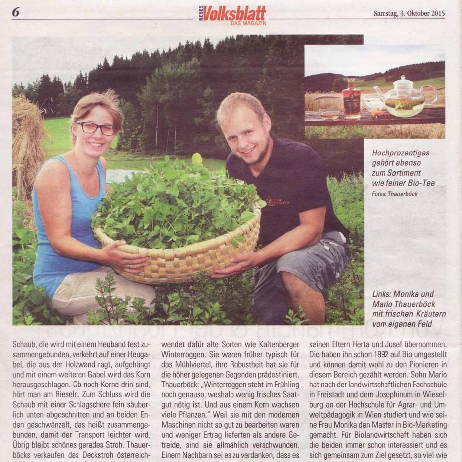 Volksblatt Titelbild