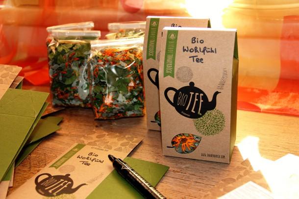 Wohlfühl Tee abpacken