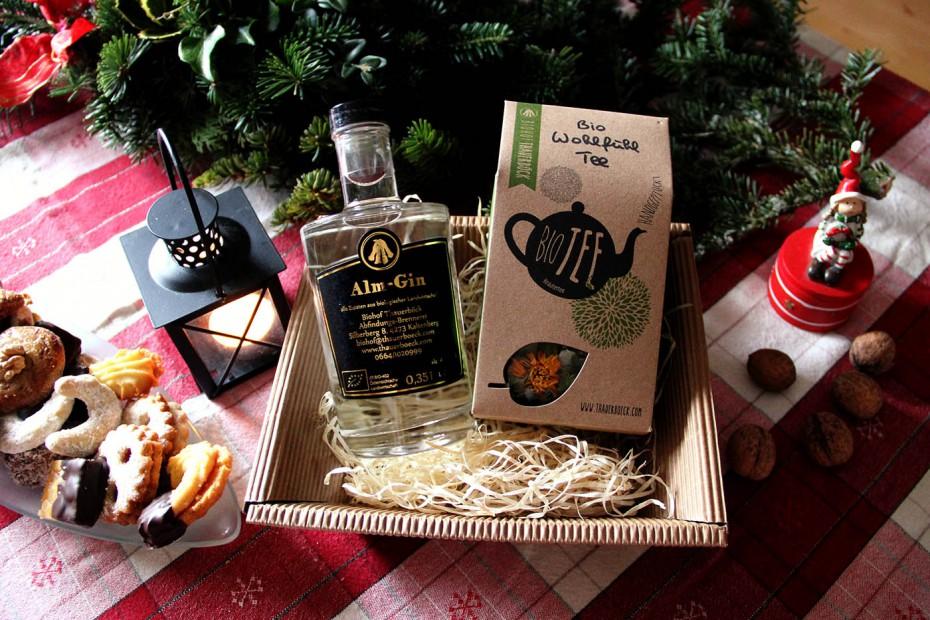 Weihnachtsgeschenke Bio Tee Gin