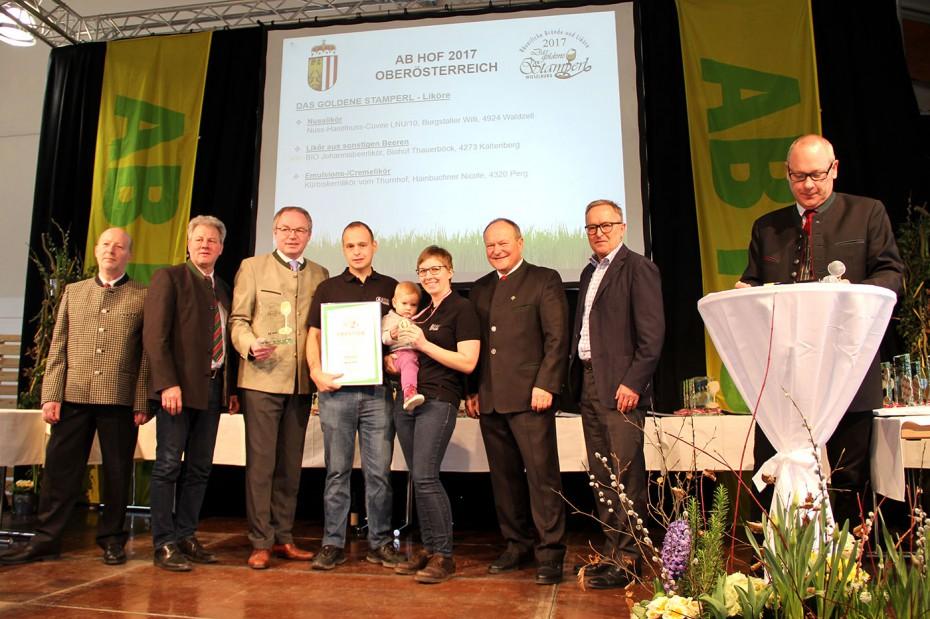 Prämierung_Biohof Thauerböck_Ab Hof Messe_Goldenes Stamperl_1