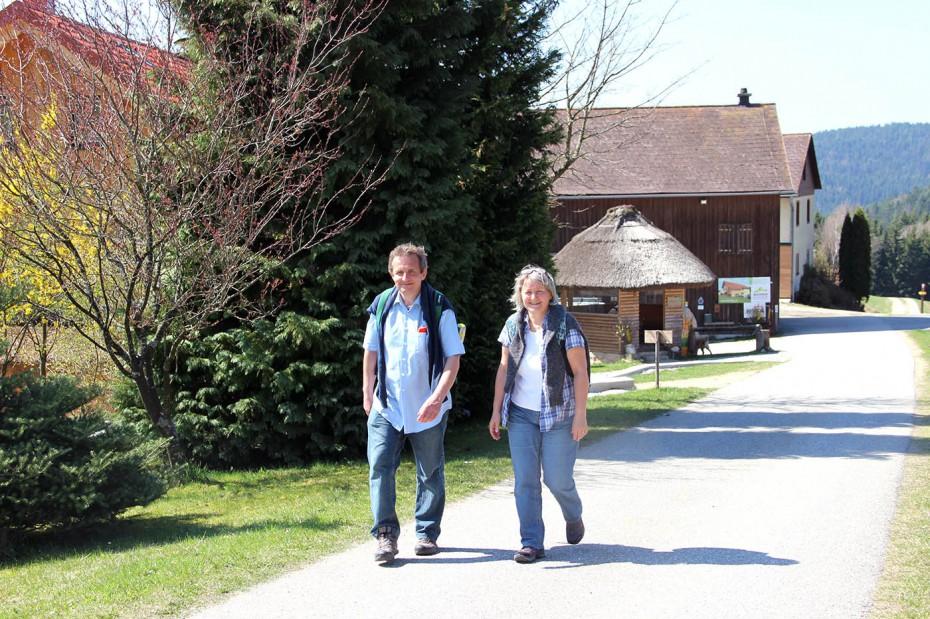 Wandern Mühlviertel Johannesweg Biohof Thauerböck