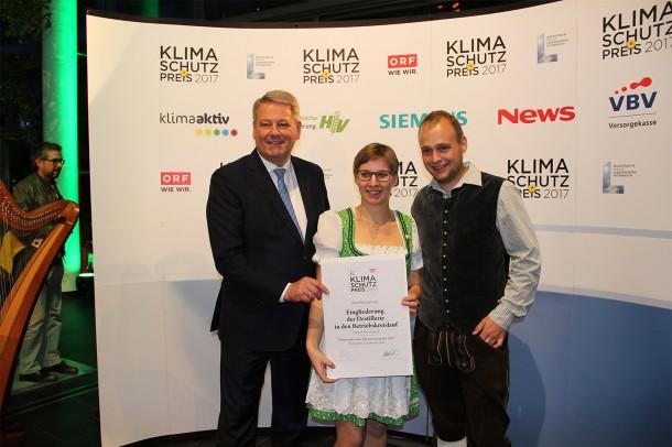 Klimaschutzpreis Gala Urkunde