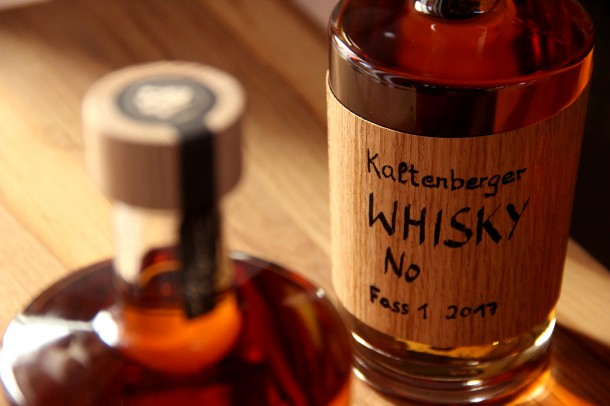 Kaltenberger Whisky Eichenholz Verschluss + Etikett