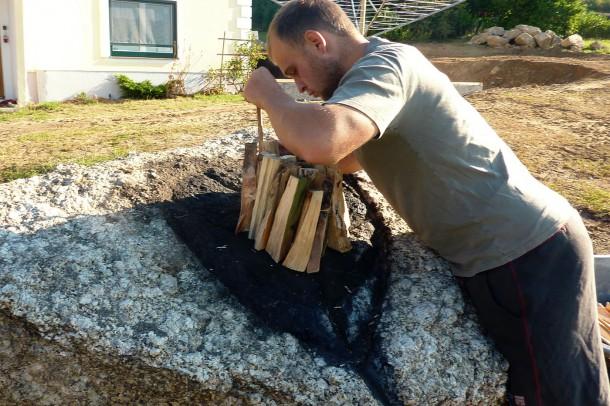 Holz aufschlichten